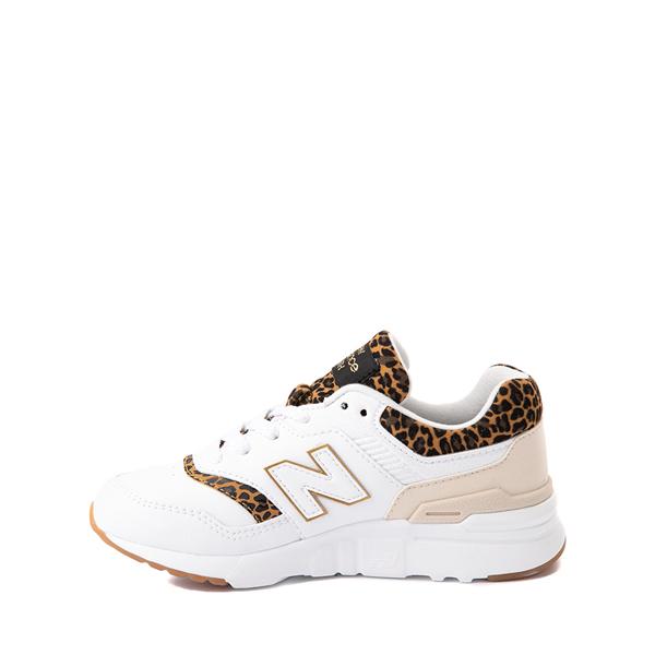 alternate view New Balance 997H Athletic Shoe - Big Kid - White / LeopardALT1