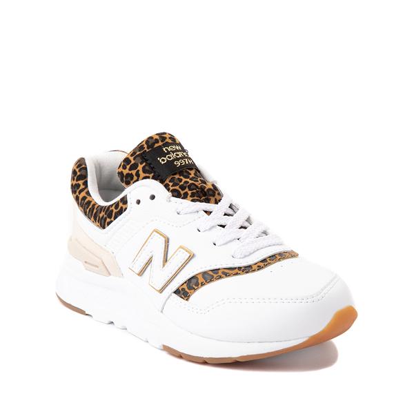 alternate view New Balance 997H Athletic Shoe - Big Kid - White / LeopardALT5