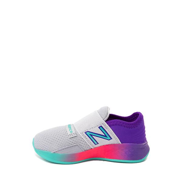 alternate view New Balance Fresh Foam Roav Slip On Athletic Shoe - Baby / Toddler - Gray / MulticolorALT1