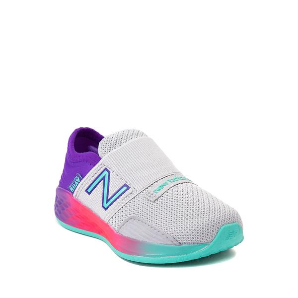 alternate view New Balance Fresh Foam Roav Slip On Athletic Shoe - Baby / Toddler - Gray / MulticolorALT5