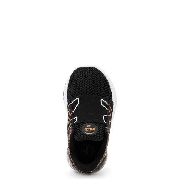 alternate view New Balance Fresh Foam Roav Slip On Athletic Shoe - Baby / Toddler - Black / LeopardALT2