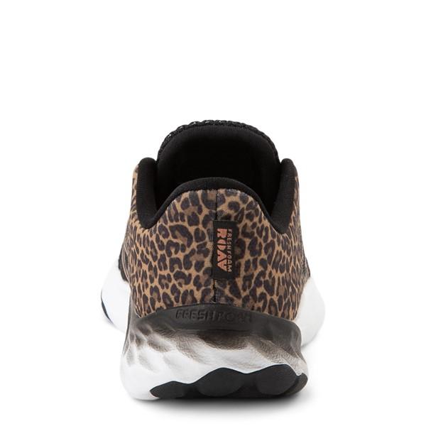 alternate view New Balance Fresh Foam Roav Slip On Athletic Shoe - Baby / Toddler - Black / LeopardALT4