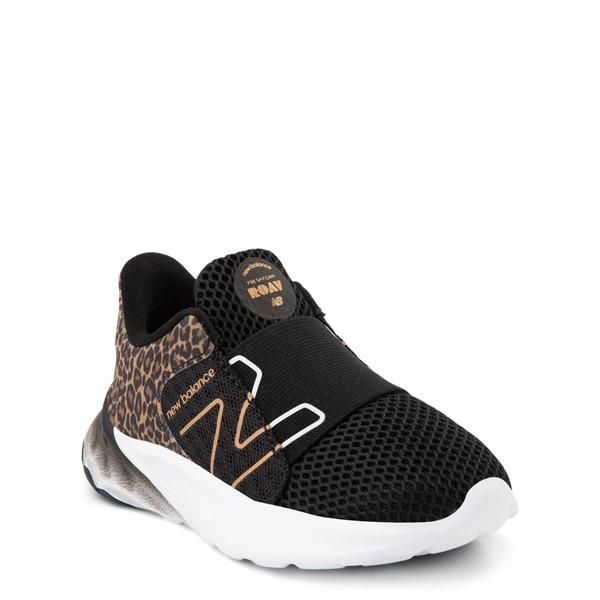 alternate view New Balance Fresh Foam Roav Slip On Athletic Shoe - Baby / Toddler - Black / LeopardALT5