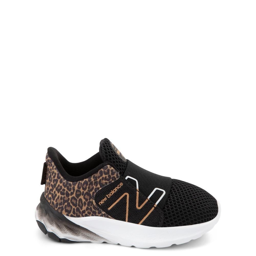 New Balance Fresh Foam Roav Slip On Athletic Shoe - Baby / Toddler - Black / Leopard