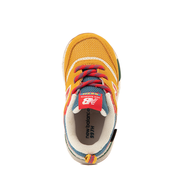alternate view New Balance 997H Athletic Shoe - Baby / Toddler - Yellow / MulticolorALT2