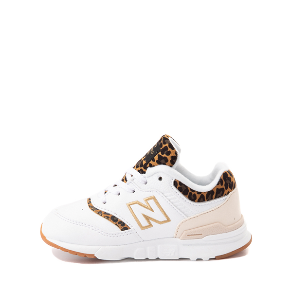alternate view New Balance 997H Athletic Shoe - Baby / Toddler - White / LeopardALT1