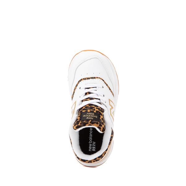 alternate view New Balance 997H Athletic Shoe - Baby / Toddler - White / LeopardALT2