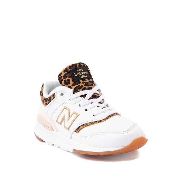 alternate view New Balance 997H Athletic Shoe - Baby / Toddler - White / LeopardALT5