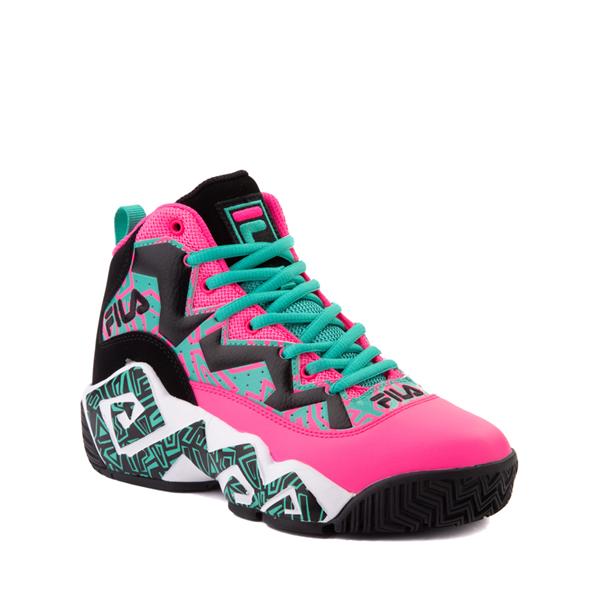 alternate view Fila MB Athletic Shoe - Big Kid - Pink / Black / TealALT5