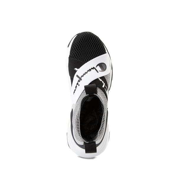 alternate view Champion Hyper C X Athletic Shoe - Big Kid - Gray / BlackALT2