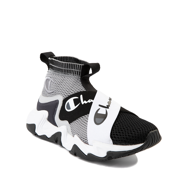 alternate view Champion Hyper C X Athletic Shoe - Big Kid - Gray / BlackALT5