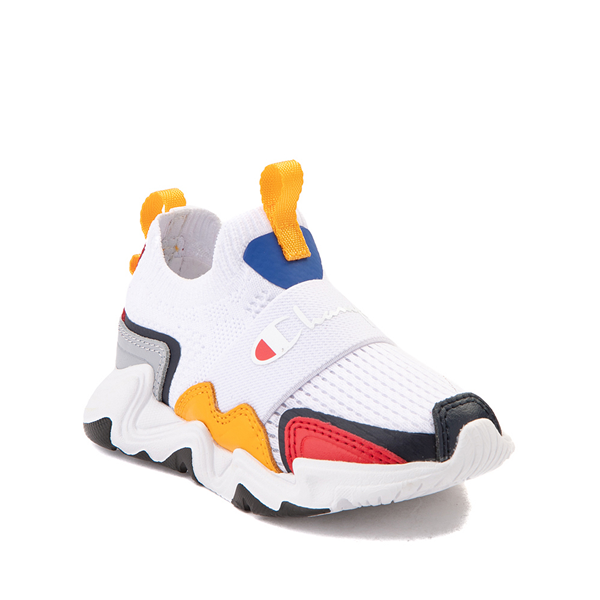 alternate view Champion Hyper C Speed Athletic Shoe - Baby / Toddler - White / MulticolorALT5