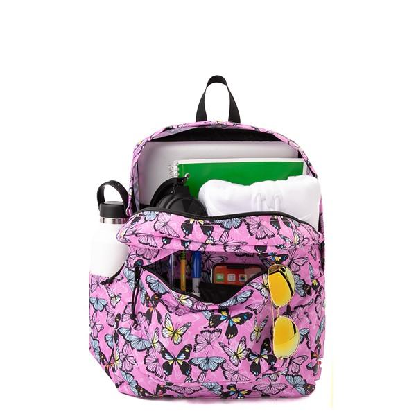 alternate view JanSport Superbreak Plus Backpack - Pink / ButterfliesALT1