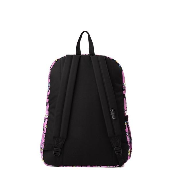 alternate view JanSport Superbreak Plus Backpack - Pink / ButterfliesALT2