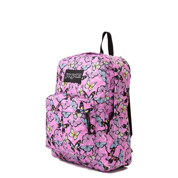 alternate view JanSport Superbreak Plus Backpack - Pink / ButterfliesALT4