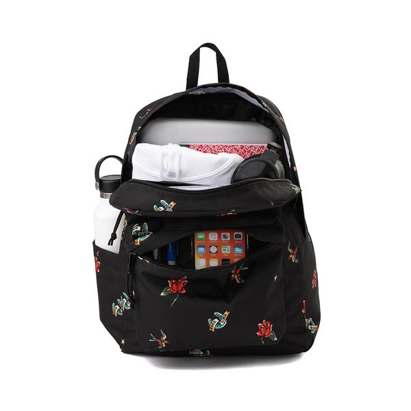 alternate view JanSport Superbreak Plus Backpack - Black / TattoosALT1