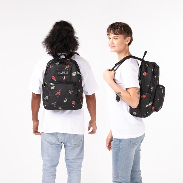 alternate view JanSport Superbreak Plus Backpack - Black / TattoosALT1BADULT