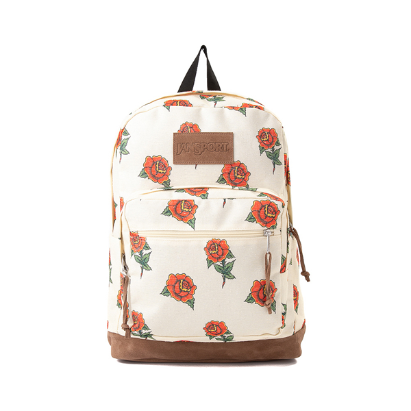 JanSport Right Pack Expressions Backpack - Off White / Roses