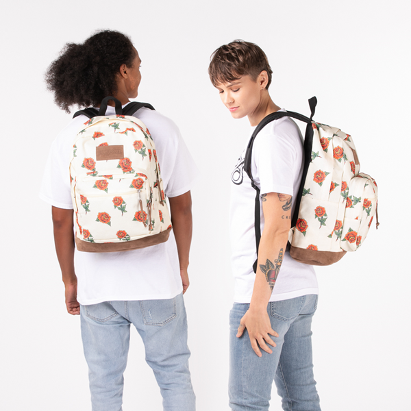 alternate view JanSport Right Pack Expressions Backpack - Off White / RosesALT1BADULT