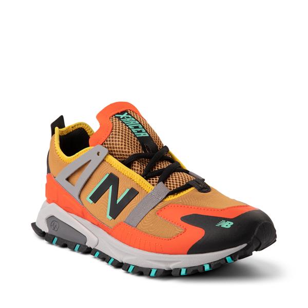 alternate view Mens New Balance X-Racer Athletic Shoe - Tan / OrangeALT5