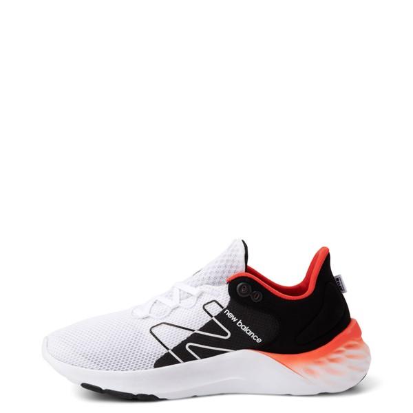 alternate view Mens New Balance Fresh Foam Roav Athletic Shoe - White / Black / OrangeALT1