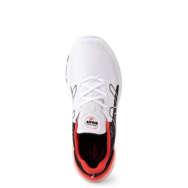 alternate view Mens New Balance Fresh Foam Roav Athletic Shoe - White / Black / OrangeALT2