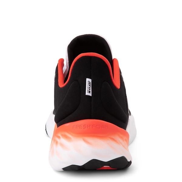 alternate view Mens New Balance Fresh Foam Roav Athletic Shoe - White / Black / OrangeALT4