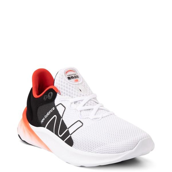 alternate view Mens New Balance Fresh Foam Roav Athletic Shoe - White / Black / OrangeALT5