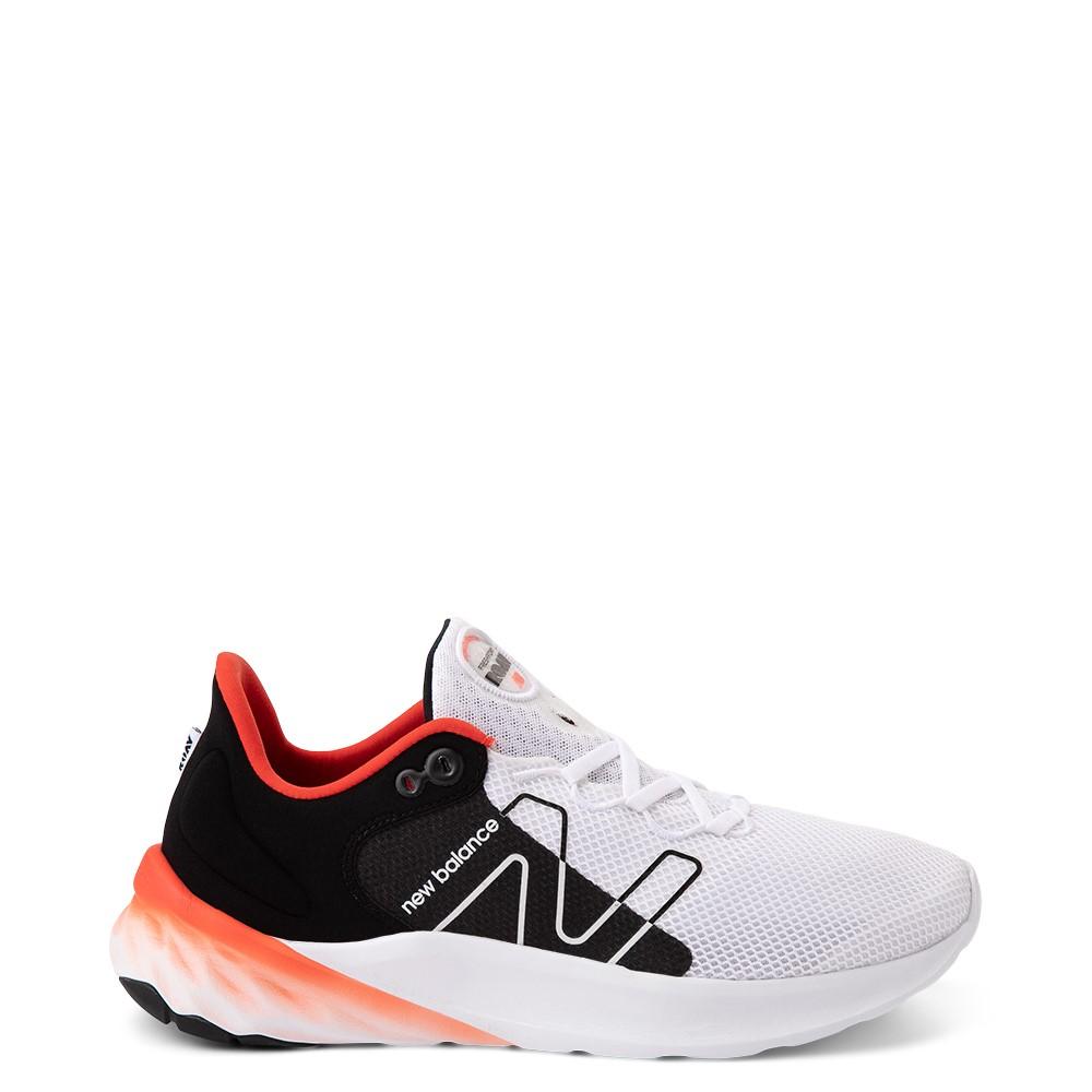 Mens New Balance Fresh Foam Roav Athletic Shoe - White / Black / Orange