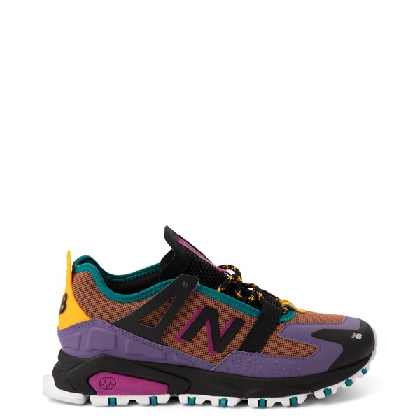Main view of Womens New Balance X-Racer Athletic Shoe - Purple / Brown