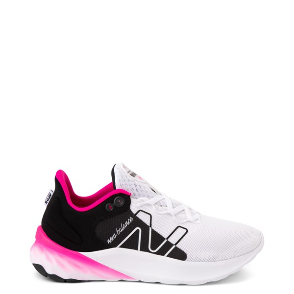 Main view of Womens New Balance Fresh Foam Roav Athletic Shoe - White / Black / Pink