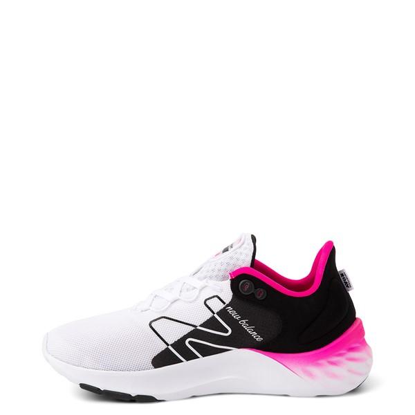 alternate view Womens New Balance Fresh Foam Roav Athletic Shoe - White / Black / PinkALT1