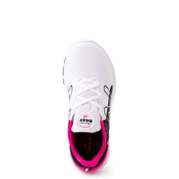 alternate view Womens New Balance Fresh Foam Roav Athletic Shoe - White / Black / PinkALT2