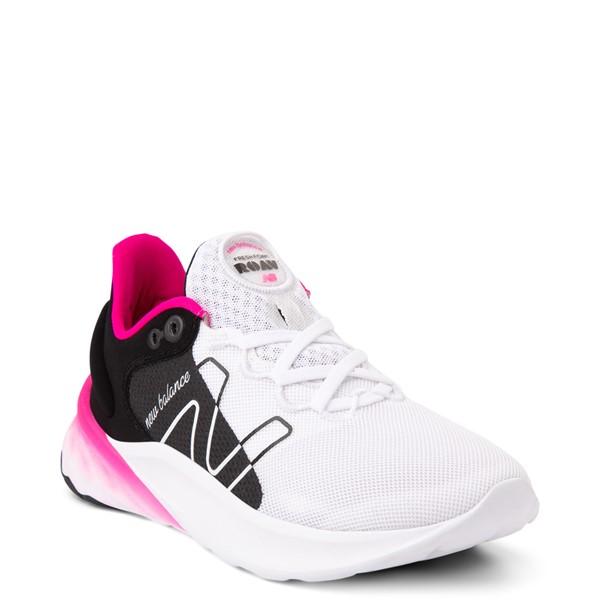 alternate view Womens New Balance Fresh Foam Roav Athletic Shoe - White / Black / PinkALT5