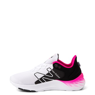 Alternate view of Womens New Balance Fresh Foam Roav Athletic Shoe - White / Black / Pink