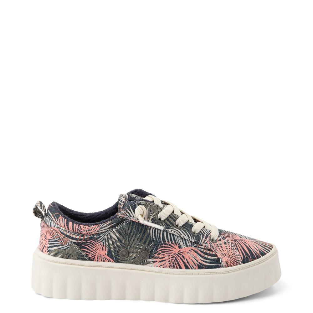 Womens Roxy Sheilahh Platform Casual Shoe - Black / Palm Trees