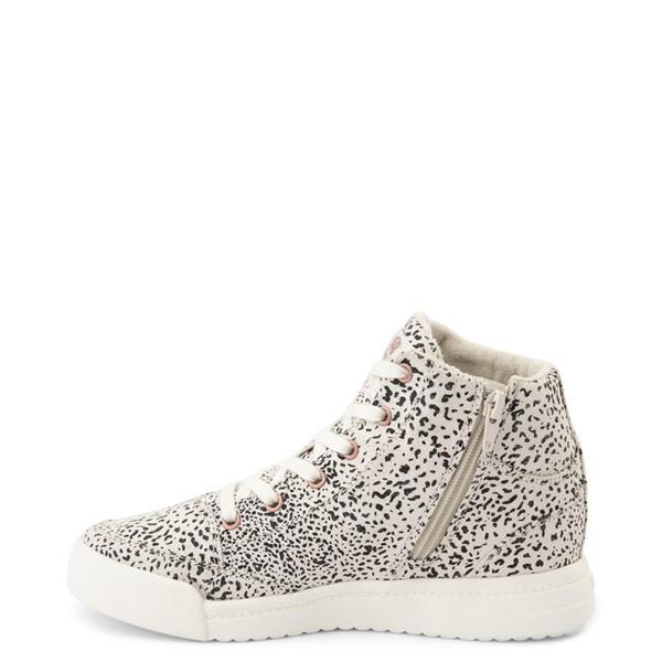 alternate view Womens Roxy Camy Hi Top Sneaker - White / Animal PrintALT1