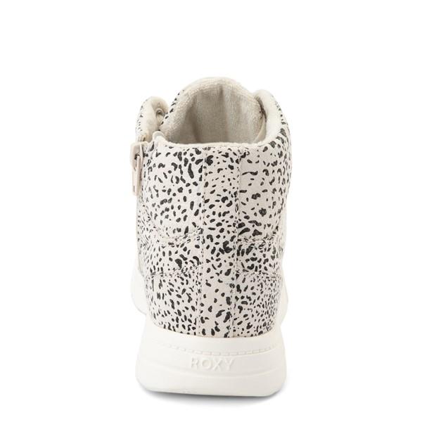 alternate view Womens Roxy Camy Hi Top Sneaker - White / Animal PrintALT4