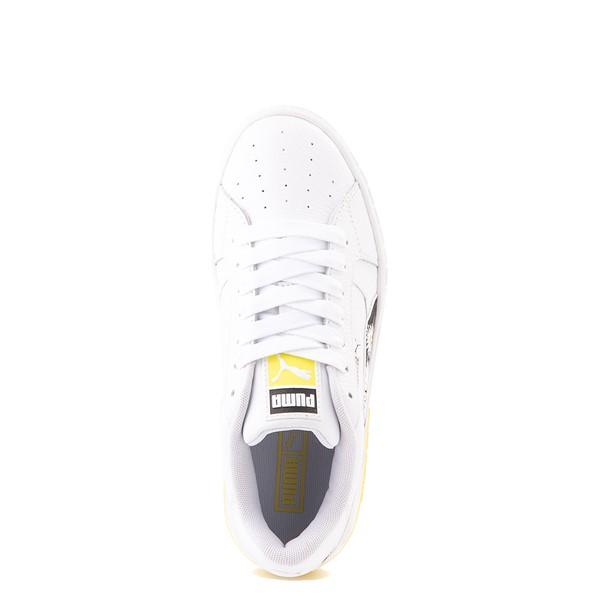 alternate view Womens Puma Cali Star Athletic Shoe - White / DaisyALT2