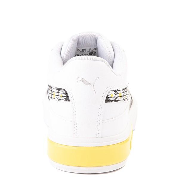 alternate view Womens Puma Cali Star Athletic Shoe - White / DaisyALT4