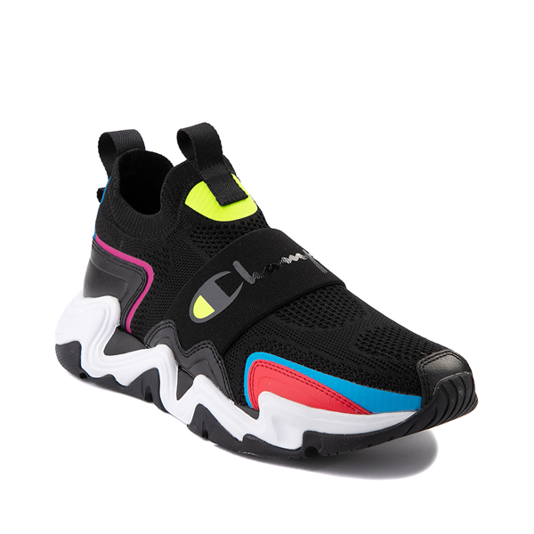 alternate view Mens Champion Hyper C Speed Athletic Shoe - Black / MulticolorALT5