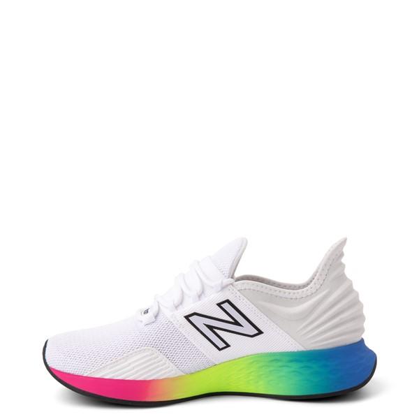 alternate view Womens New Balance Fresh Foam Roav Athletic Shoe - White / RainbowALT1