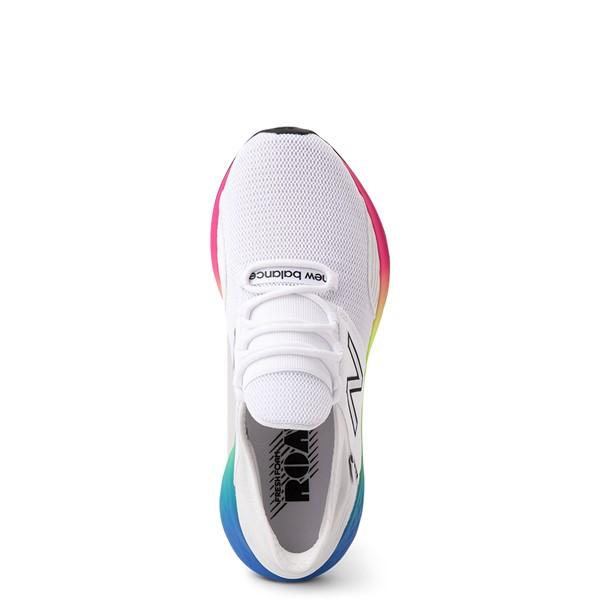alternate view Womens New Balance Fresh Foam Roav Athletic Shoe - White / RainbowALT2