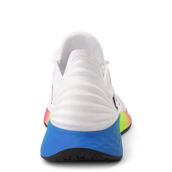 alternate view Womens New Balance Fresh Foam Roav Athletic Shoe - White / RainbowALT4
