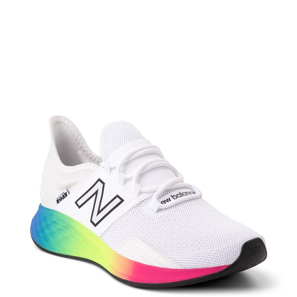 alternate view Womens New Balance Fresh Foam Roav Athletic Shoe - White / RainbowALT5