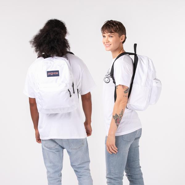 alternate view JanSport Superbreak Plus Backpack - WhiteALT1BADULT