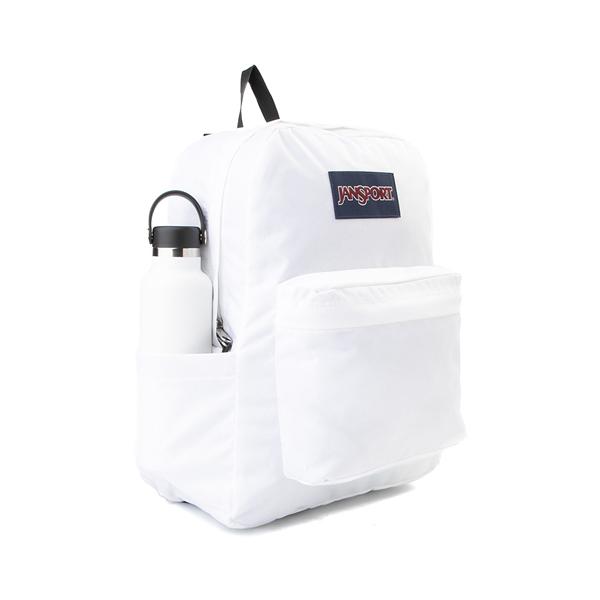 alternate view JanSport Superbreak Plus Backpack - WhiteALT4B