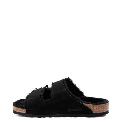 Alternate view of Mens Birkenstock Arizona Shearling Sandal - Black