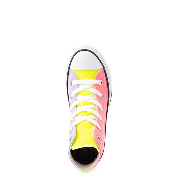 alternate view Converse Chuck Taylor All Star Hi Sneaker - Little Kid - Neon Color-BlockALT2