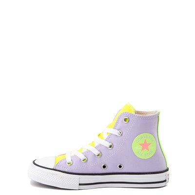 Alternate view of Converse Chuck Taylor All Star Hi Sneaker - Little Kid - Neon Color-Block